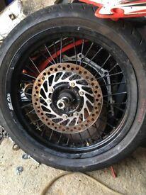 Honda crf 450 super moto wheels