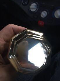 Door handle front brass