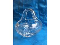 Crystal/ glass basket
