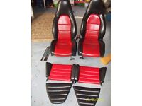 PORSCHE 911, BOXSTER, 964, 993 ELECTRIC LEATHER FRONT SEATS AND REAR SEATS SUITABLE FOR VWs TOO