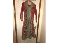 Asian shalwar kameez dress with heavy work