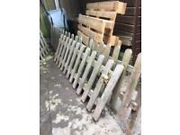 Reclaimed picket fence