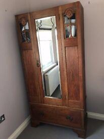 Solid wood vintage wardrobe