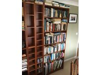 Ikea billy bookcases and cd storage bookcases
