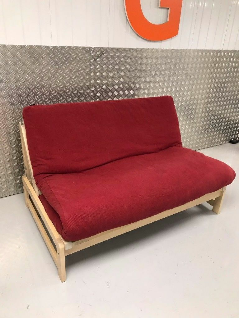 Futon Company Linear Sofa Bed Birch Wood Base Thick Sofabed Mattress Cover Cost