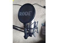 Rode NT1A Microphone + Desk Arm & AudioBox amp.