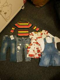 Baby girl set of clothes