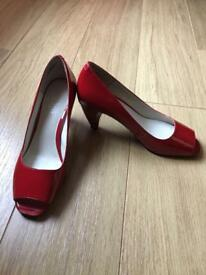 Nine West Red Patent Leather Heels, size 4. Immaculate condition. Worn once.