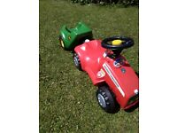 Tractor and trailer for age 1yrs -4yrs, excellent condition, only used inside, trailer tips