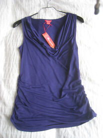 Monsoon Purple stretchy smart evening top. Size 8 - Never worn, tag still attached