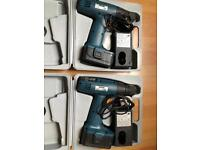 Two TRONIC Rechargable Cordless Screwdriver