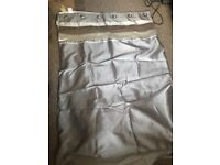 Silver Eyelet Top Curtains 90x90
