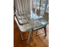 Pacini Cappellini Omega Glass Extendable Dining Table | RPP £3,065
