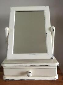 Small dressing table mirror with drawer