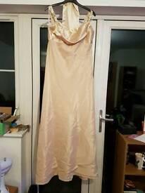 Gold bridesmaid dress size XL