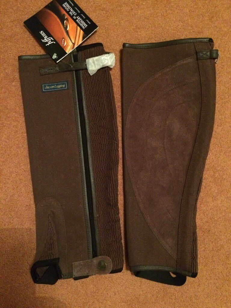 Horse riding. Half Chaps. Never used with original labels attached.