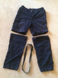 RRP £50 - Craghoppers (zip off trousers) active wear trousers shorts