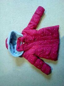 Junior J Debenhams designer Red Girls Coat.