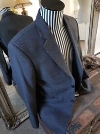 "Mens herringbone jacket 42"" Chest, GREY/BLACK, Beautifully designed and made 31 "" long"