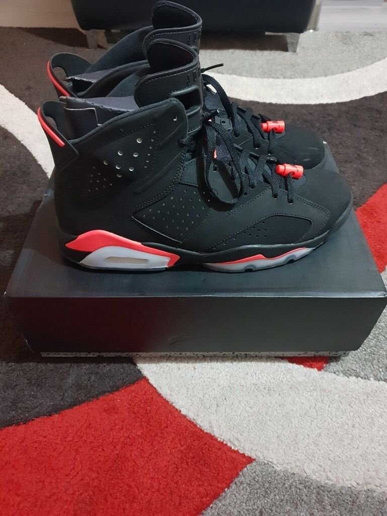 55cfe3b1ac88f9 Nike Air Jordan 6 retro black infrared (UK11)