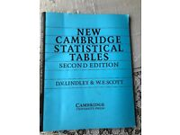 New Cambridge Statistical Tables (Second Edition)