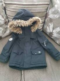 Boys parka coat age 5-6