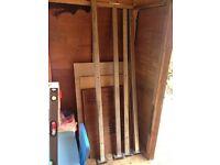 Galvanised steel posts x4