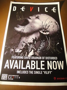 Device-Dave-Draiman-from-Disturbed-First-Tour-Promo-Poster-Signed-2013-Vilify