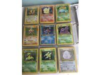 Folder full of random pokemon cards