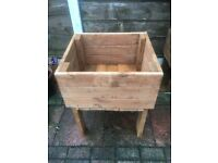 3 hand made planter boxes
