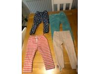Girls bundle trousers/ dungarees 12-24months