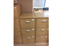 3 Draw Wooden Filing Cabinets