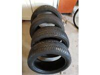 4 x tyres 205 45 17 5mm+