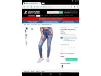 JD sports skinny ripped jeans