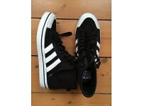 Addidas canvas shoes, black, worn once,, size 7