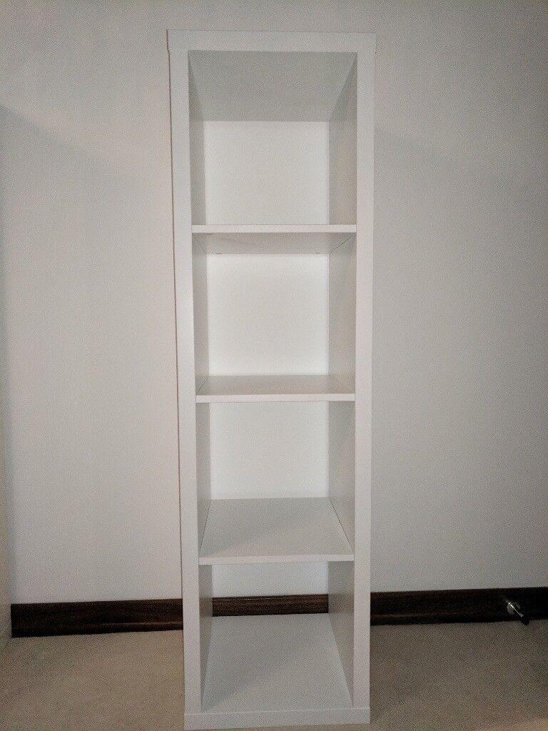 White Kallix single story shelving unit