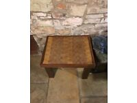 Small coffee /side table hard wood oak