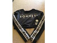 Girls Sonneti long sleeved crop top - never been used age 10-12
