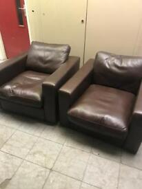 Marks and Spencer's leather armchairs