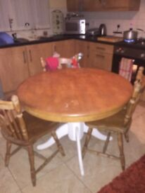 Dinning table 3 chairs