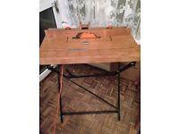 Circular saw on Table stand foldaway. Black & Decker SR300 vgc