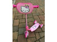 Hello Kitty Scooter, (£7) skates (£4)and Vtech Musical Hello Kitty toy (£7) or all three for £15