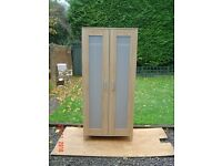 Light Beech Double Wardrobe. Can Deliver.