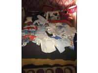0-3 and 3-6 months baby boy clothes bundle