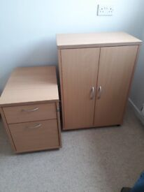 Office cupboard and drawers