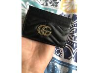 Gucci Card Holder Womens Black