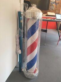 hair dresser *brand new* unused, rotating pole barber light, TRADITIONAL & ILLUMINATING