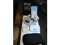 Ipod 3rd generation in white. 20g with all top spec package accessories.In full working order.