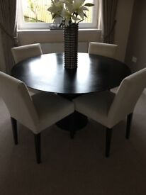Round dining round table and chairs