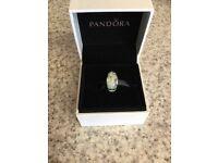 Genuine Pandora wild flowers glass murano charm. Great condition. £14